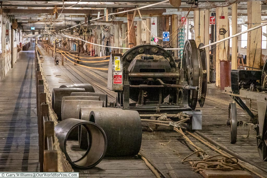 Inside the Ropery, Historic Chatham Dockyard, Kent, England, UK