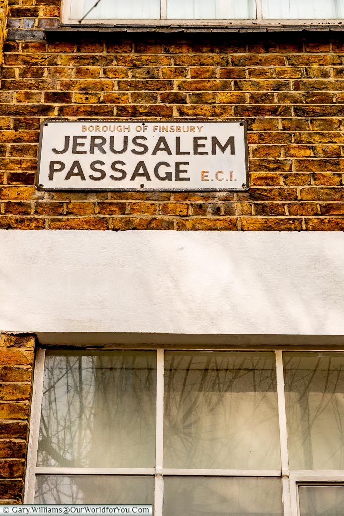 Jerusalem Passage, Streets of London, London, England, UK