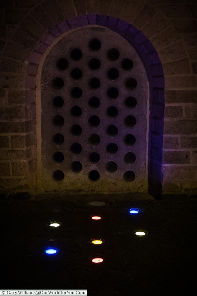 Little dots at Saint Peter Church, Trajectum Lumen, Utrecht, Netherlands