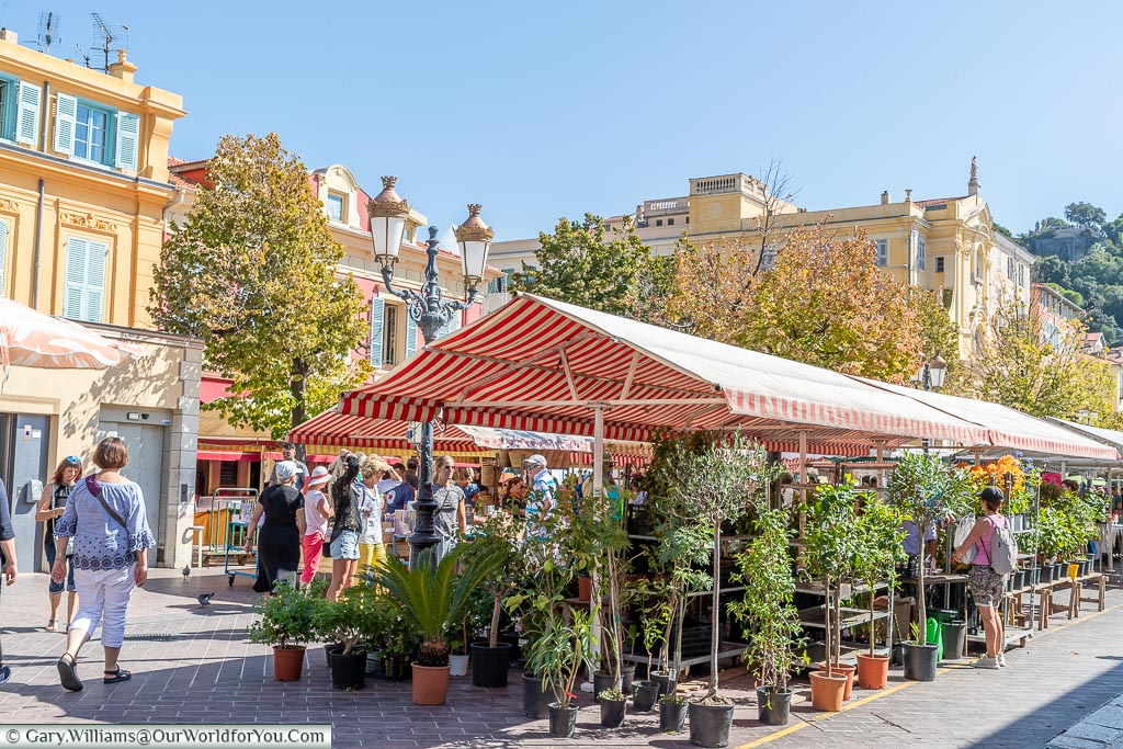 Market in Cours Saleya, Nice, France