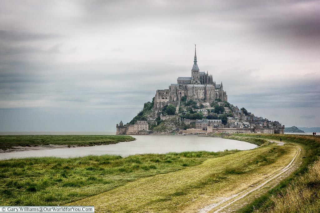 A view of Mont-Saint-Michel from our visit in 2008 before work was undertaken to improve the causeway.