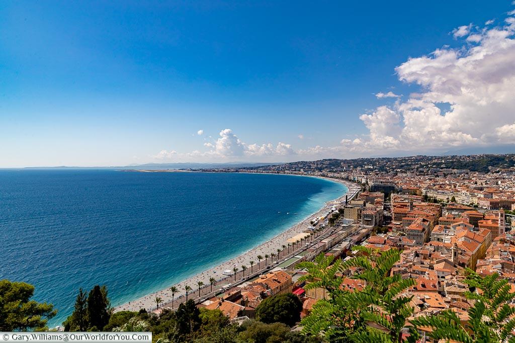 Nice coastline, Nice, France