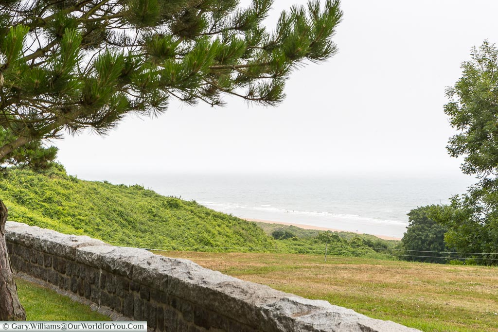 The view of 'Omaha' beach from the Normandy American Cemetery