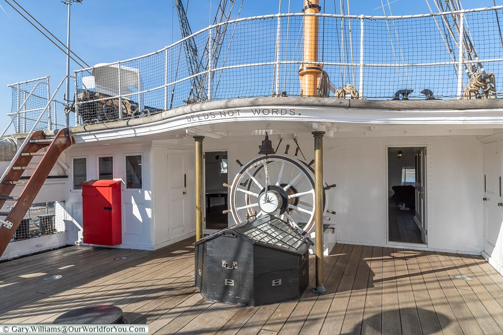 On the deck of HMS Gannet, Historic Chatham Dockyard, Kent, England, UK