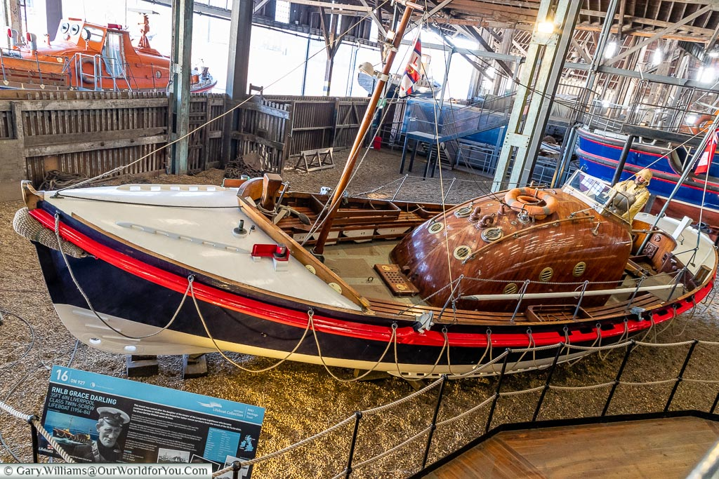 RNLB Grace Darling, Historic Chatham Dockyard, Kent, England, UK
