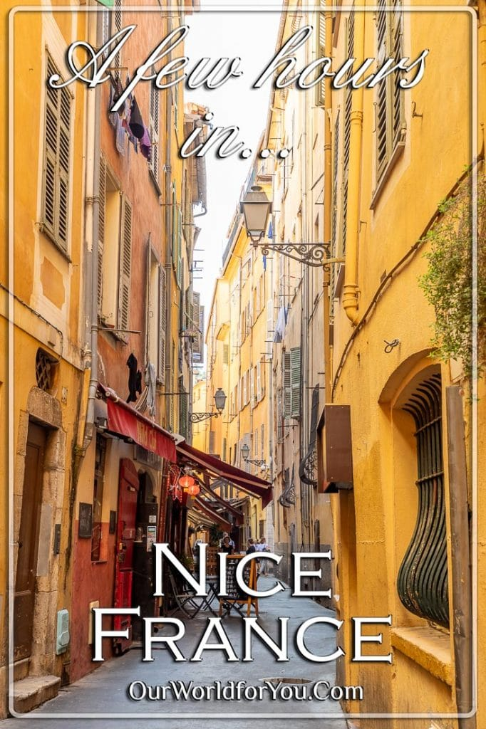 The Pin image for our post - 'A few hours in Nice, France'