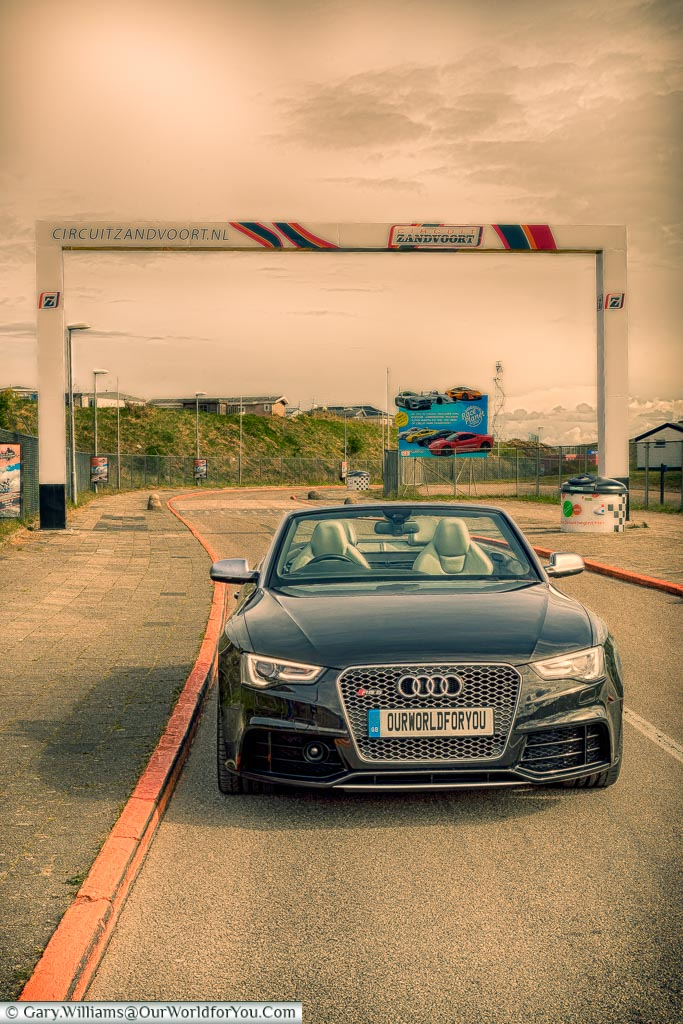 The Audi at the entrance to the Zandvoort circuit, Holland, Netherlands