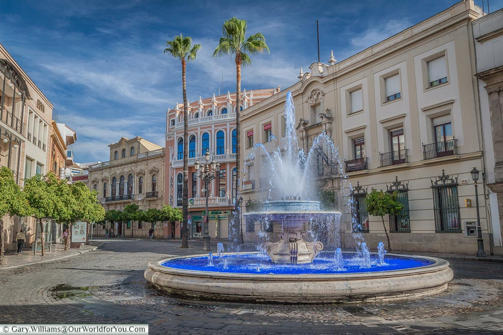 The Blue Fountain, Jerez, Spain
