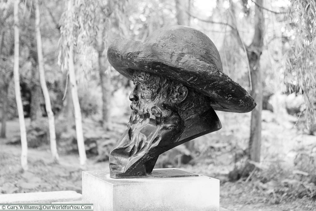 The Claude Monet bust, Giverny, Normandy, France