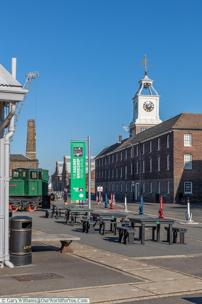 The Clocktower Building, Historic Chatham Dockyard, Kent, England, UK