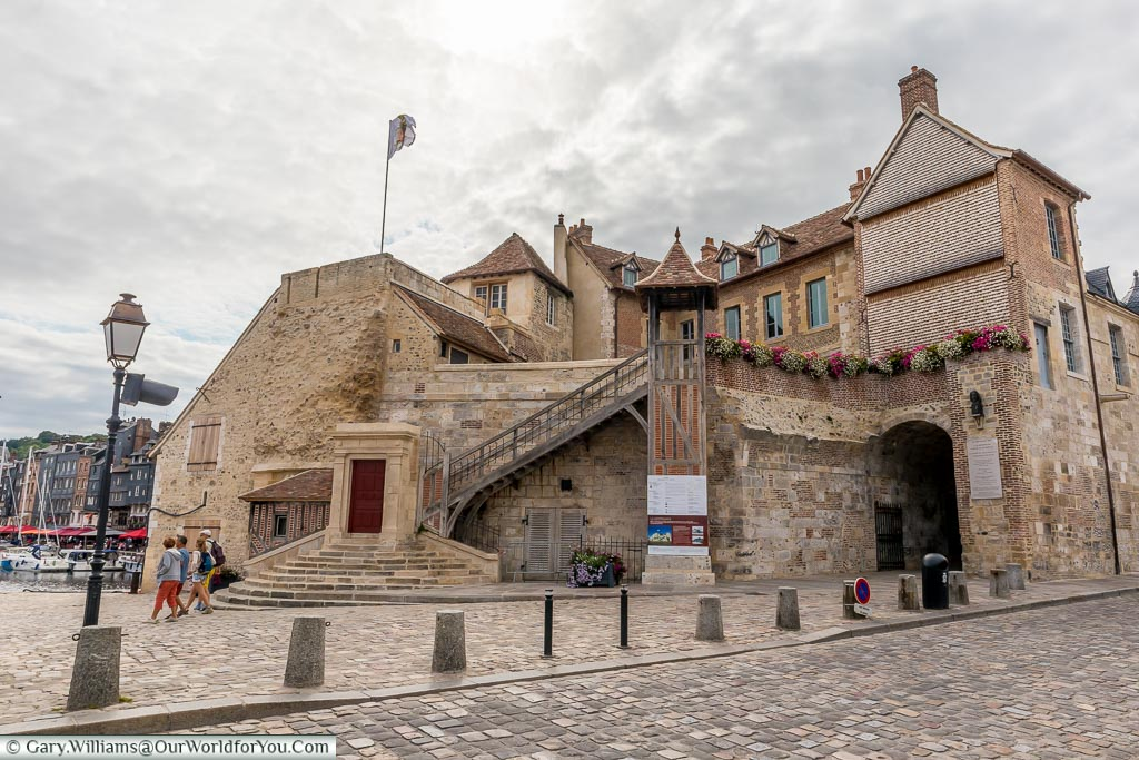 The Lieutenance, a historic building a the entrance to Honfleur's old town.