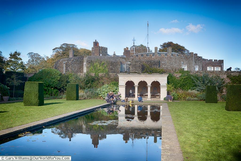 The Queen Mother's garden, Walmer Castle, Kent, England, UK