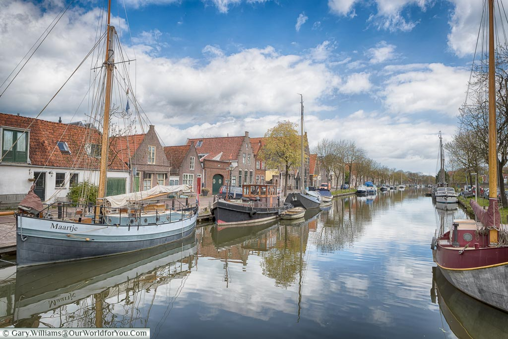 The canals around Edam, Holland, Netherlands