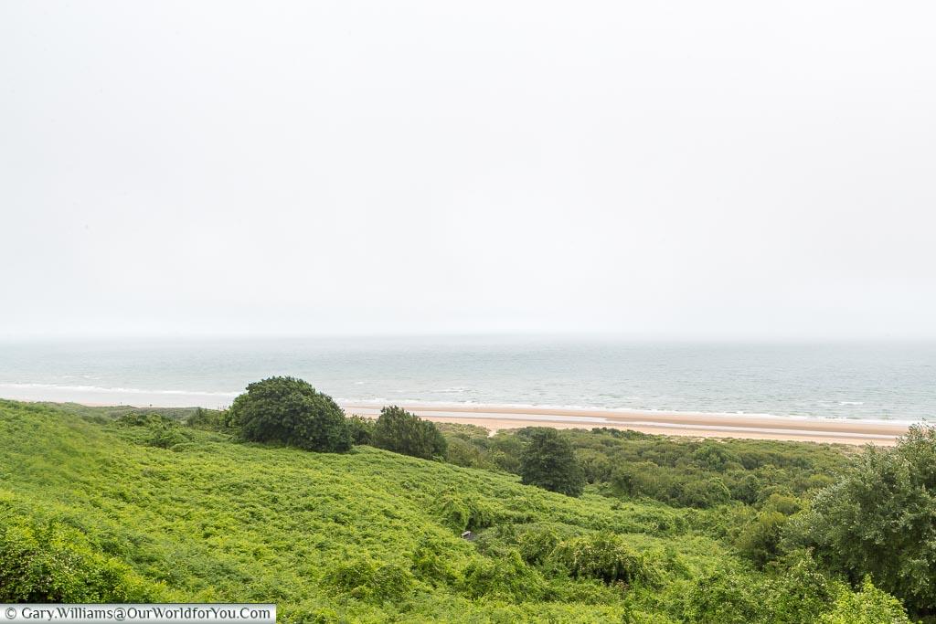 The coastline at Omaha Beach, Normandy, France