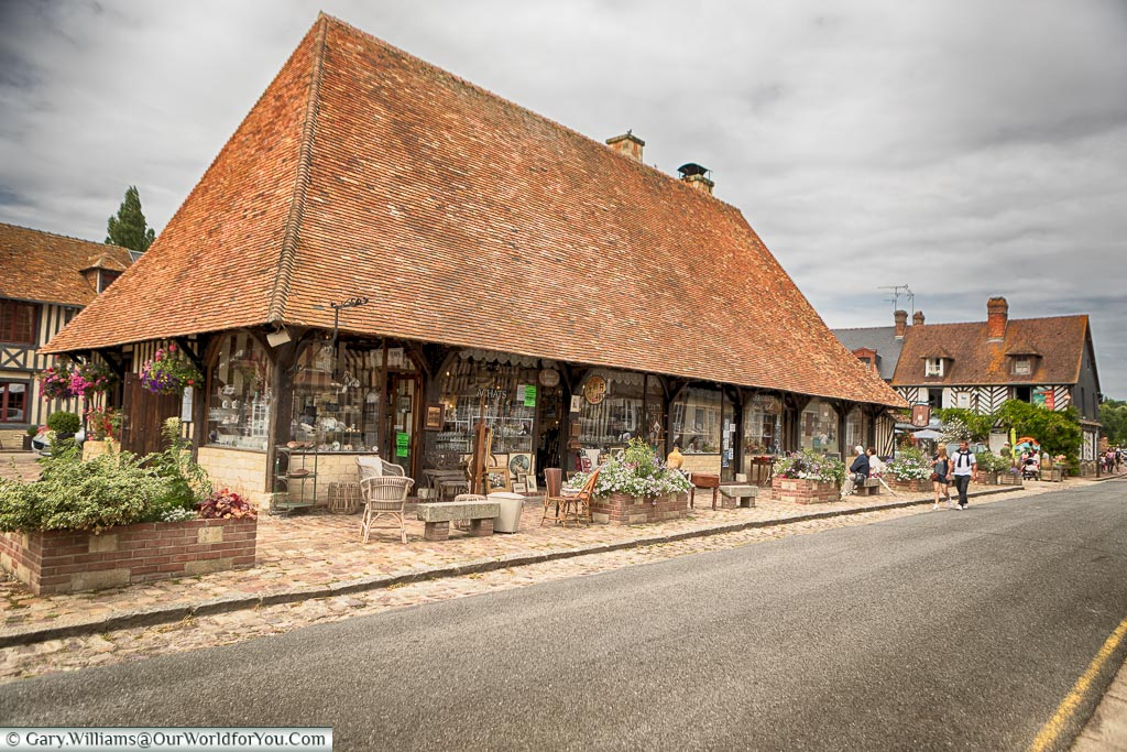 The covered market, Beuvron-en-Auge, Normandy, France