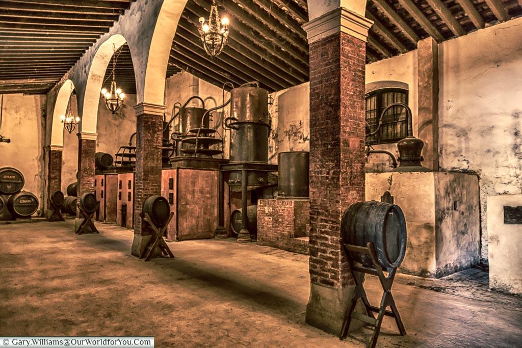 The distillery, Tio Pepe, Gonzalez Byass, Jerez, Spain