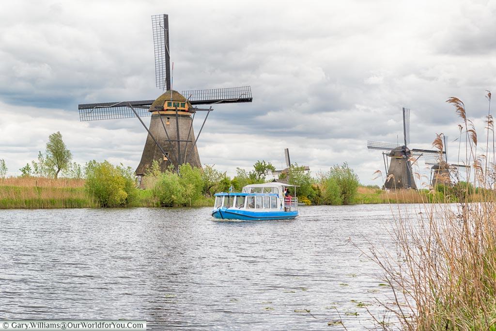 The electric tour boat, Kinderdijk, Holland, Netherlands