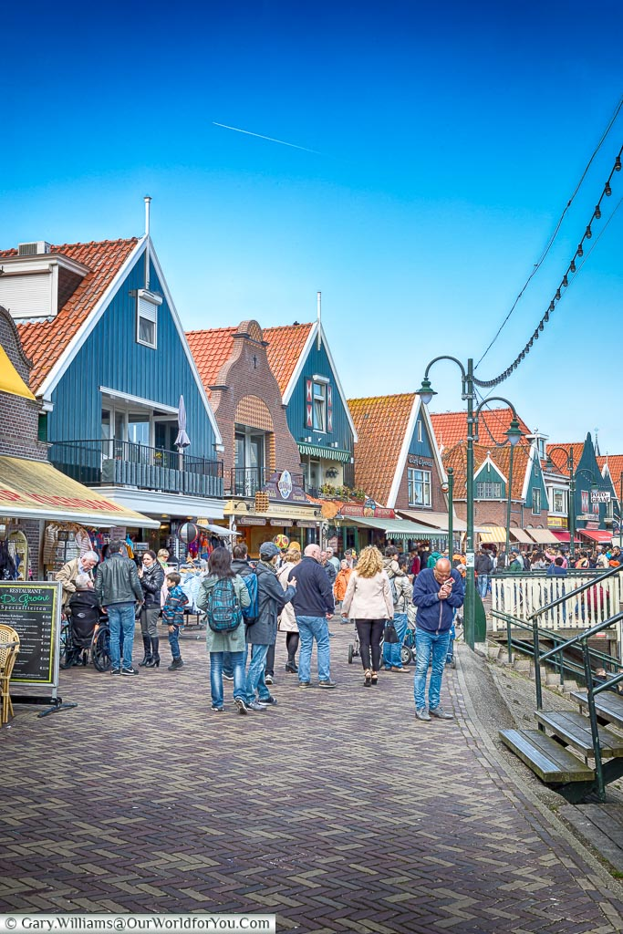 The harbour front in Volendam, Holland, Netherlands