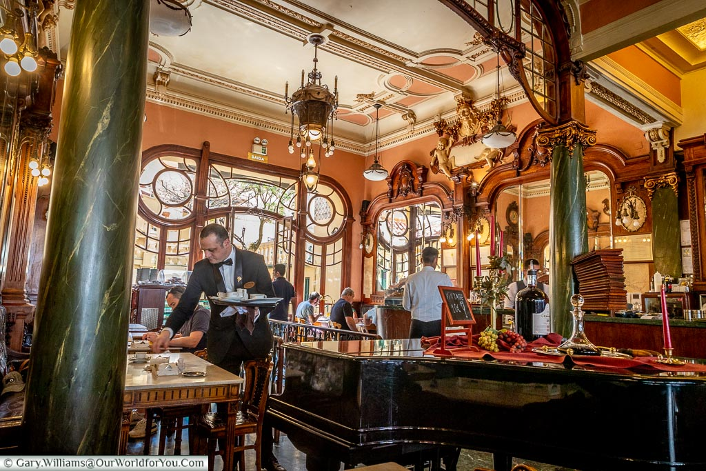 The interior of the Majestic café , Porto, Portugal