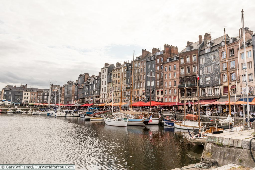 The harbour at Honfleur, Normandy, France