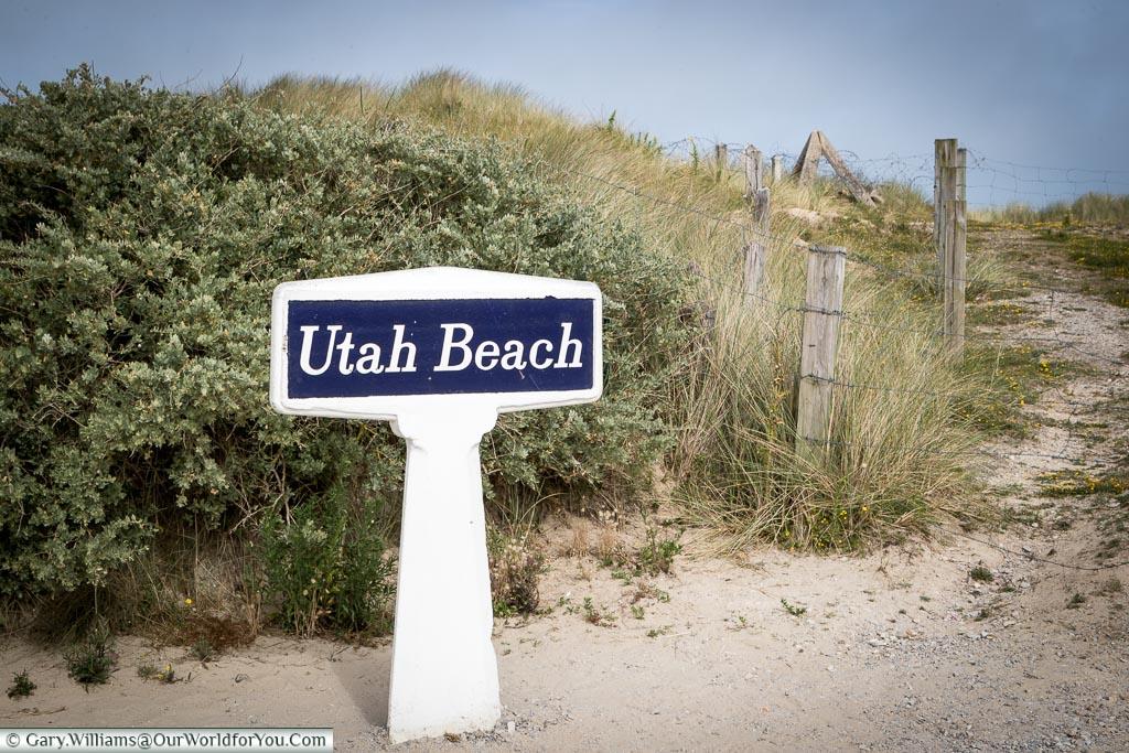 The sigh for Utah Beach, Normandy, France
