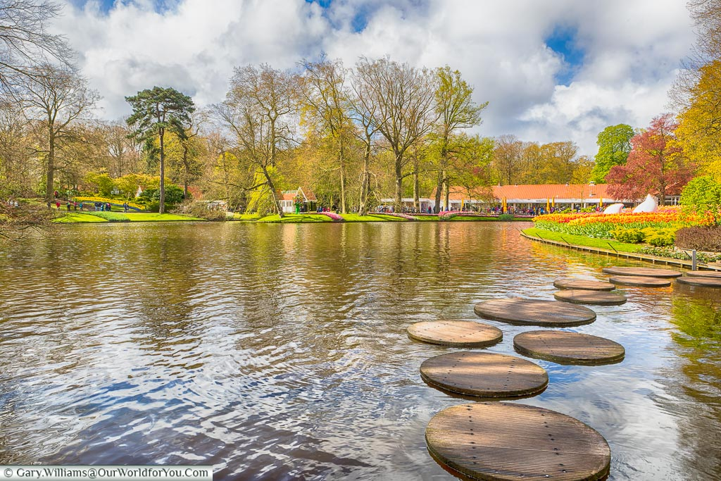 The stepping stones, Keukenhof, Holland, Netherlands