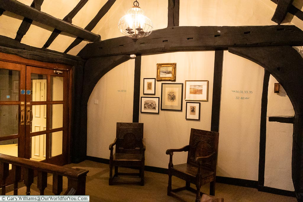 Traditional timbers that have seen some history, The White Horse, bespoke hotels, Dorking, Surrey, England, UK