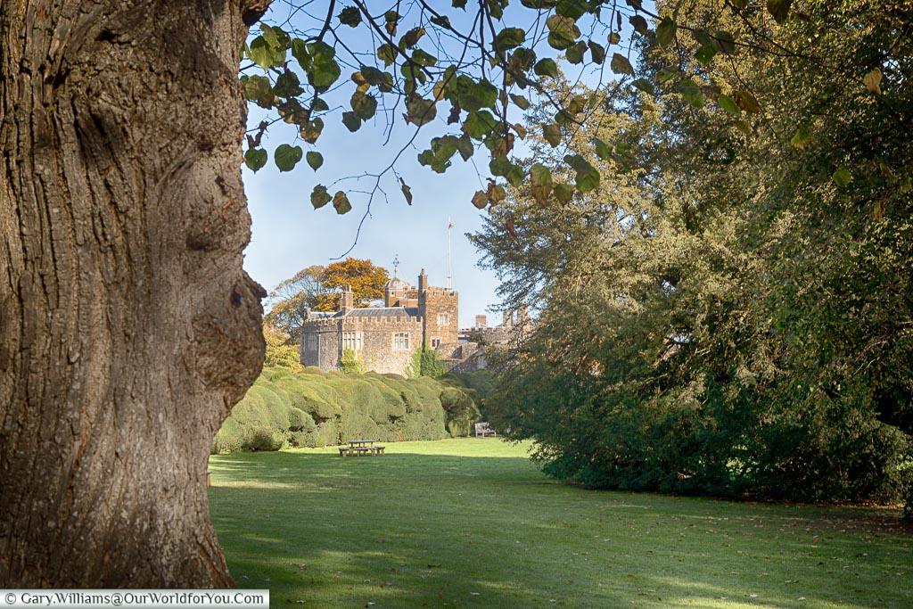 Walmer Castle from the gardens, Walmer, Kent, England, UK