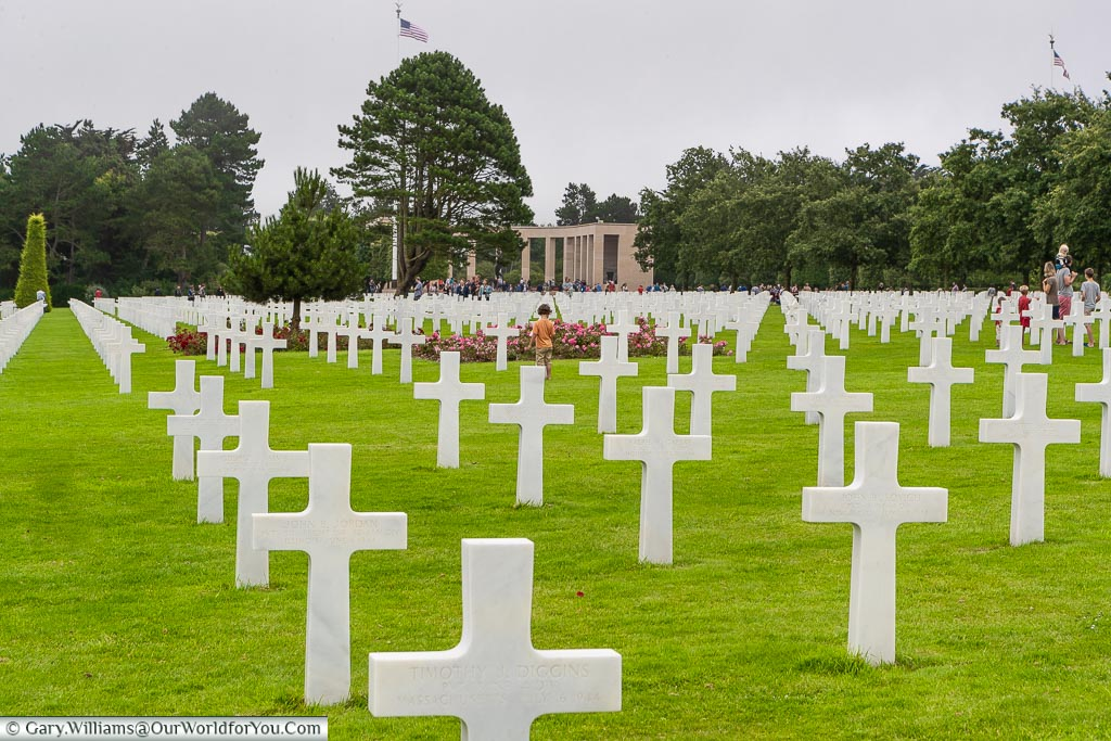 Families at the Normandy American Cemetery and Memorial, Normandy, France