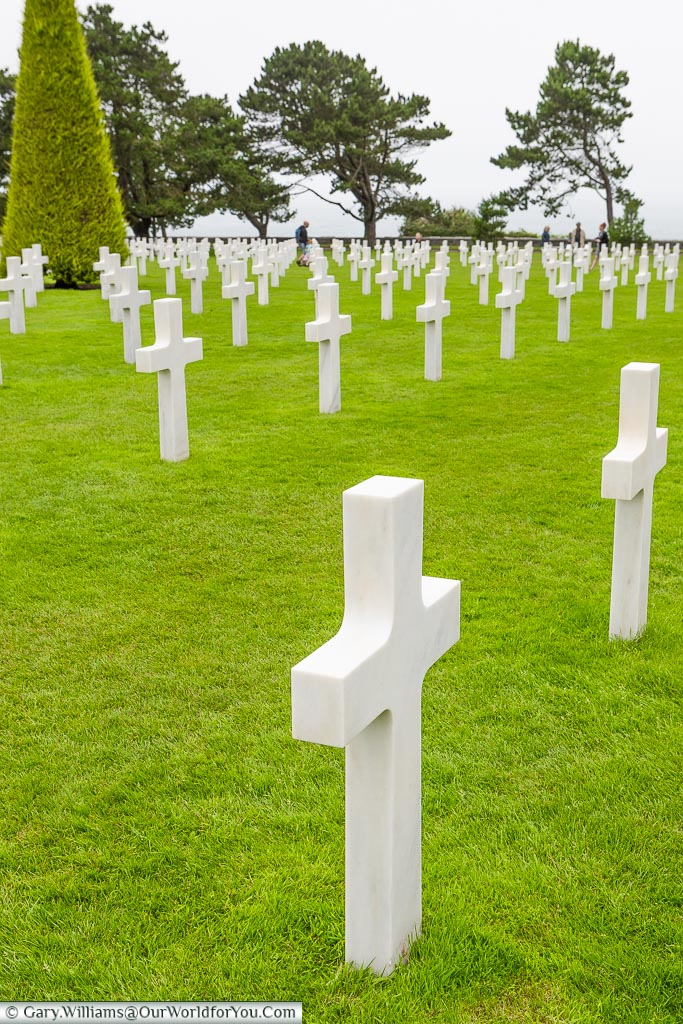 Headstones as far as you can see, Normandy American Cemetery and Memorial, Normandy, France
