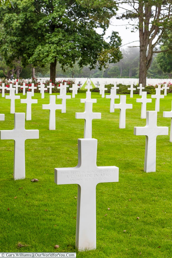 Never ending headstones -  Normandy American Cemetery and Memorial, Normandy, France