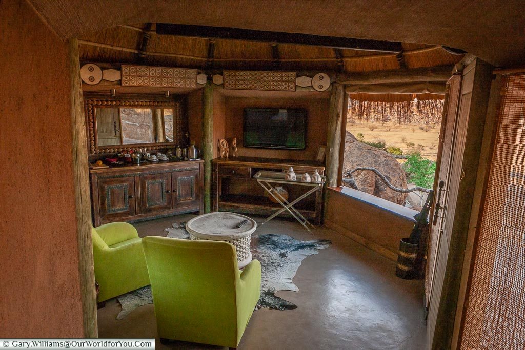 Our Safari Lodge at Camp Kipwe, Namibia, Africa