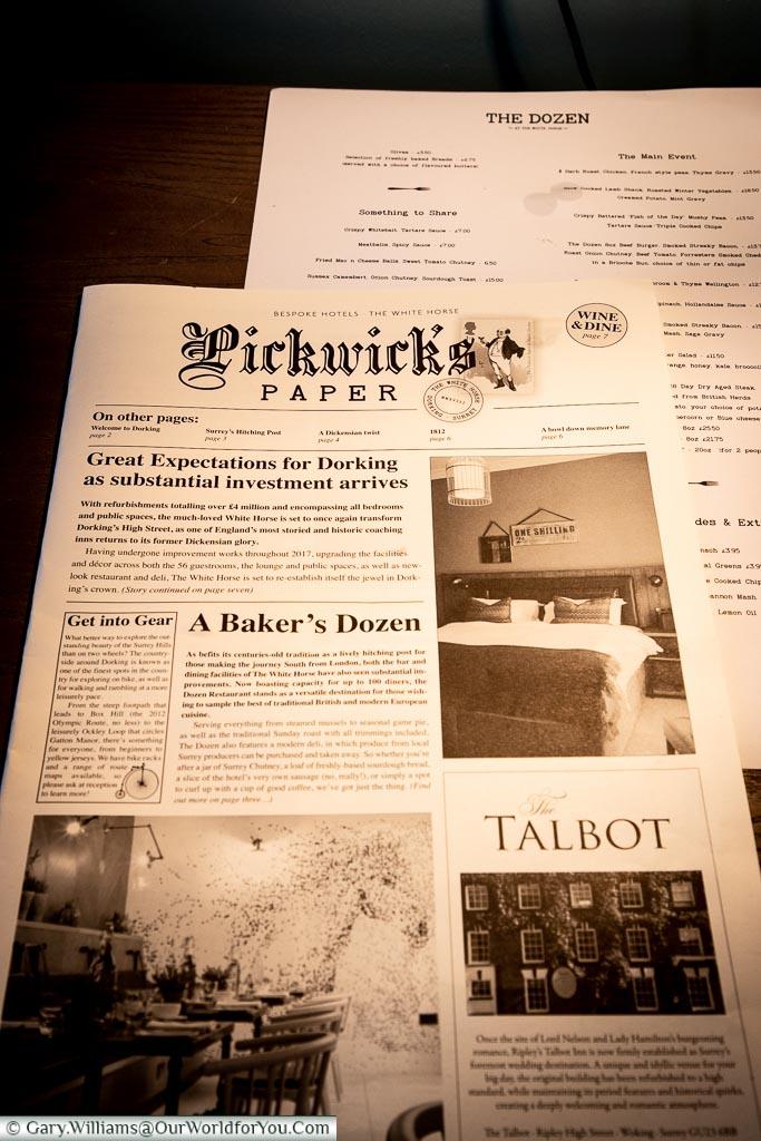 Pickwick Papers, Dorking, Surrey, England, UK