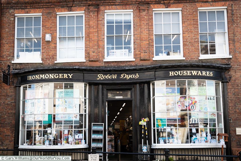 Robert Dyas - Hardware store, Dorking, Surrey, England, UK