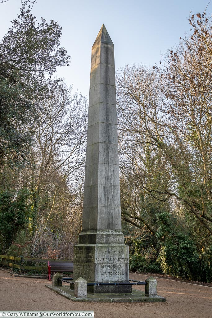 Scottish Martyrs memorial, Nunhead Cemetery, London, England, UK