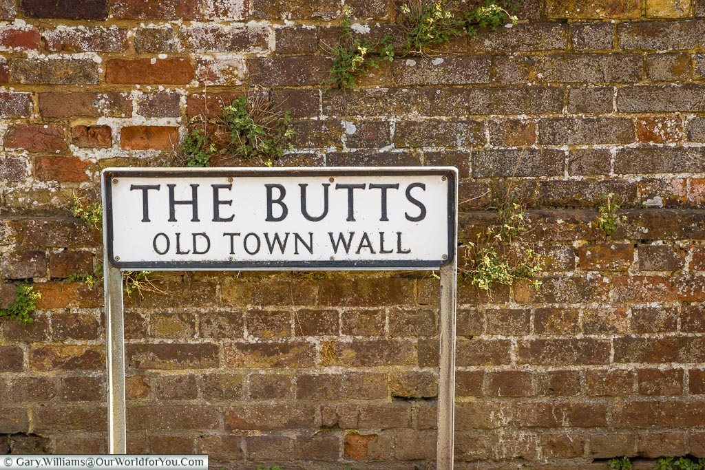 The Butts - Old Town Wall, Sandwich, Kent, England, UK