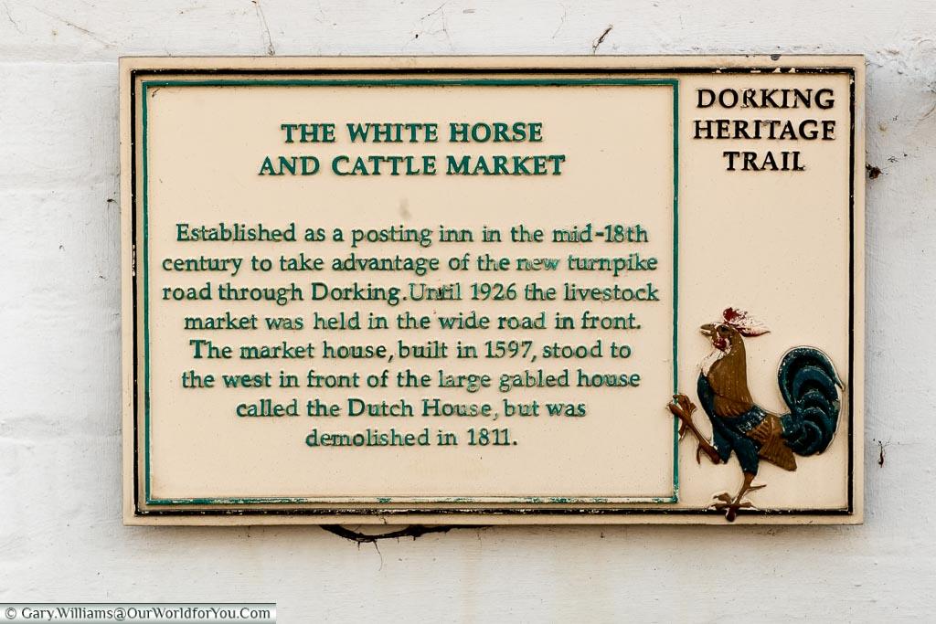 The Dorking Heritage Trail, Dorking, Surrey, England, UK