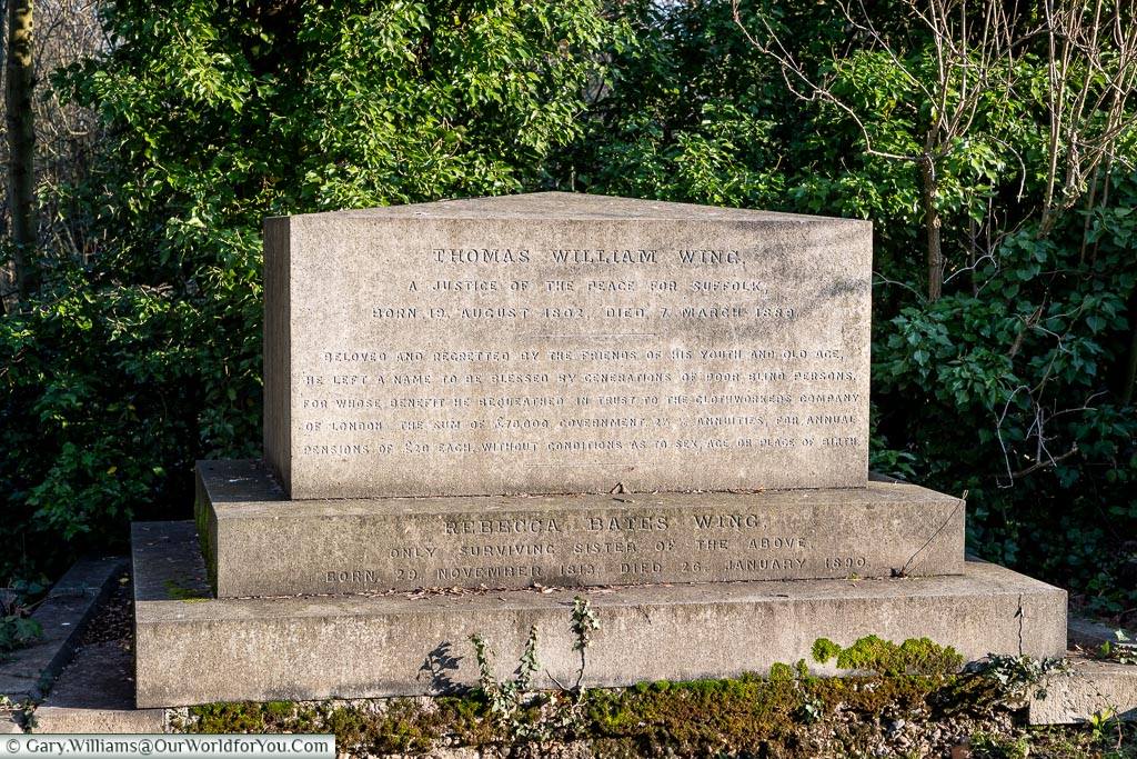 The Thomas William Wing memorial, Nunhead Cemetery, London, England, UK