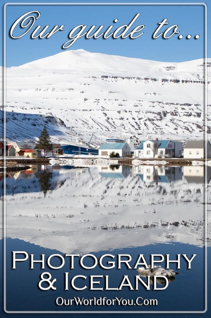 The Pin image of our post - 'Photography & Iceland'