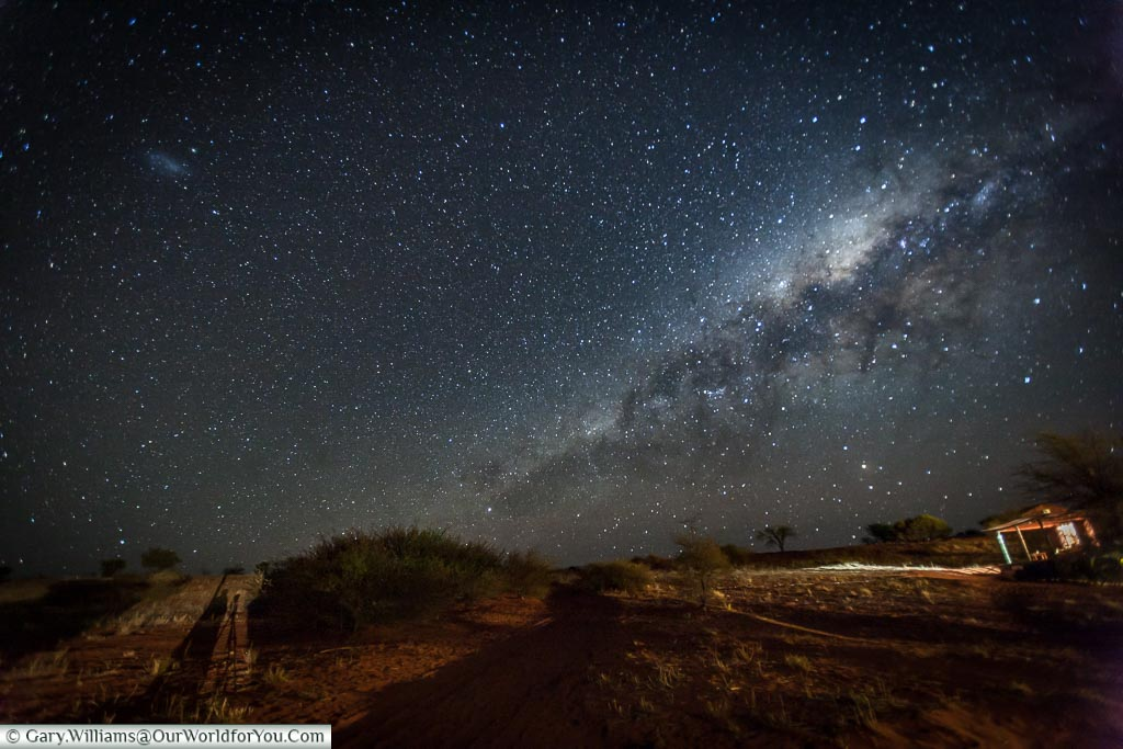 The night sky from our safari lodge, Bagatelle Kalahari Game Ranch, Namibia