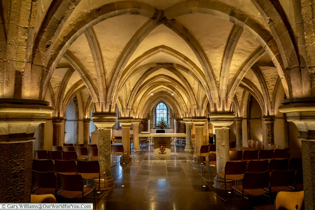 Chapel in the Crypt, Rochester Cathedral, Rochester, Kent, England, UK