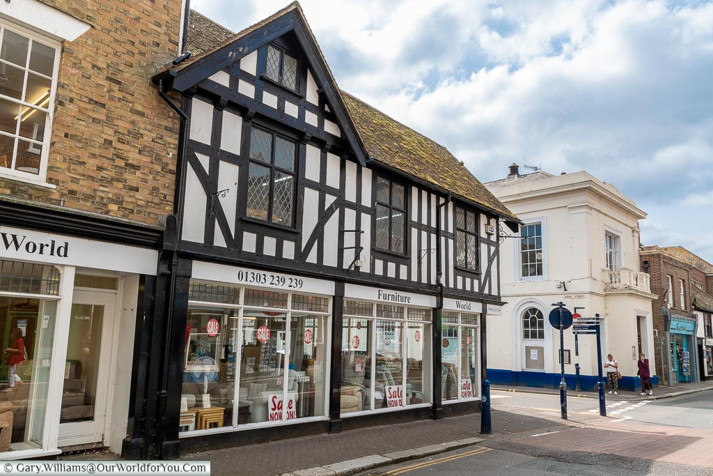 A mix of building on the historic High Street of Hythe