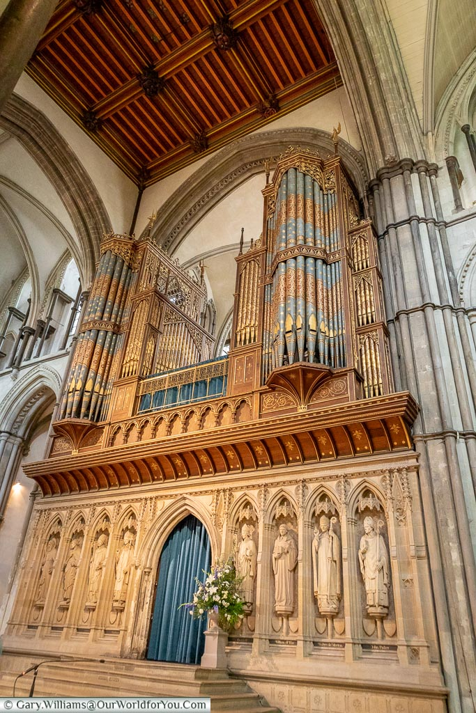 The Cathedral organ, Rochester Cathedral, Rochester, Kent, England, UK