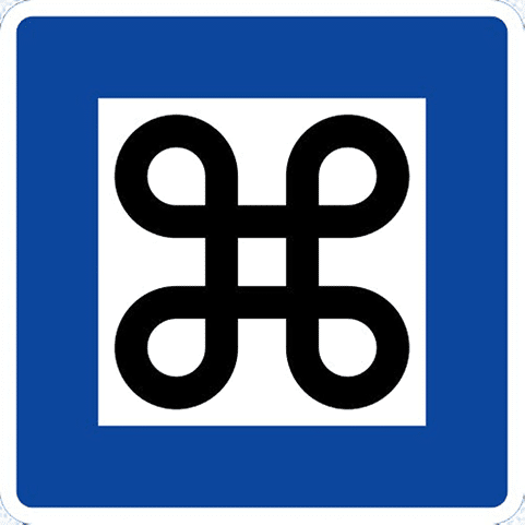 The Point of Interest Road Sign