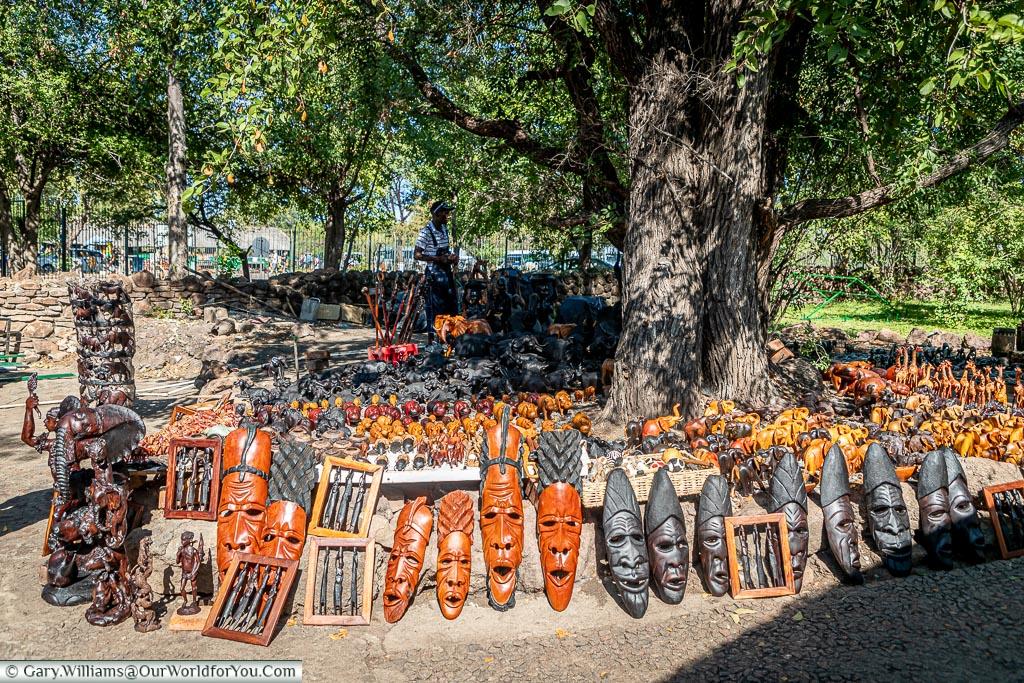 A souvenir stall, Victoria Falls Town, Zimbabwe
