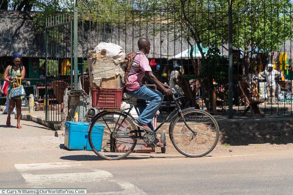 A typical mode of transport , Victoria Falls Town, Zimbabwe