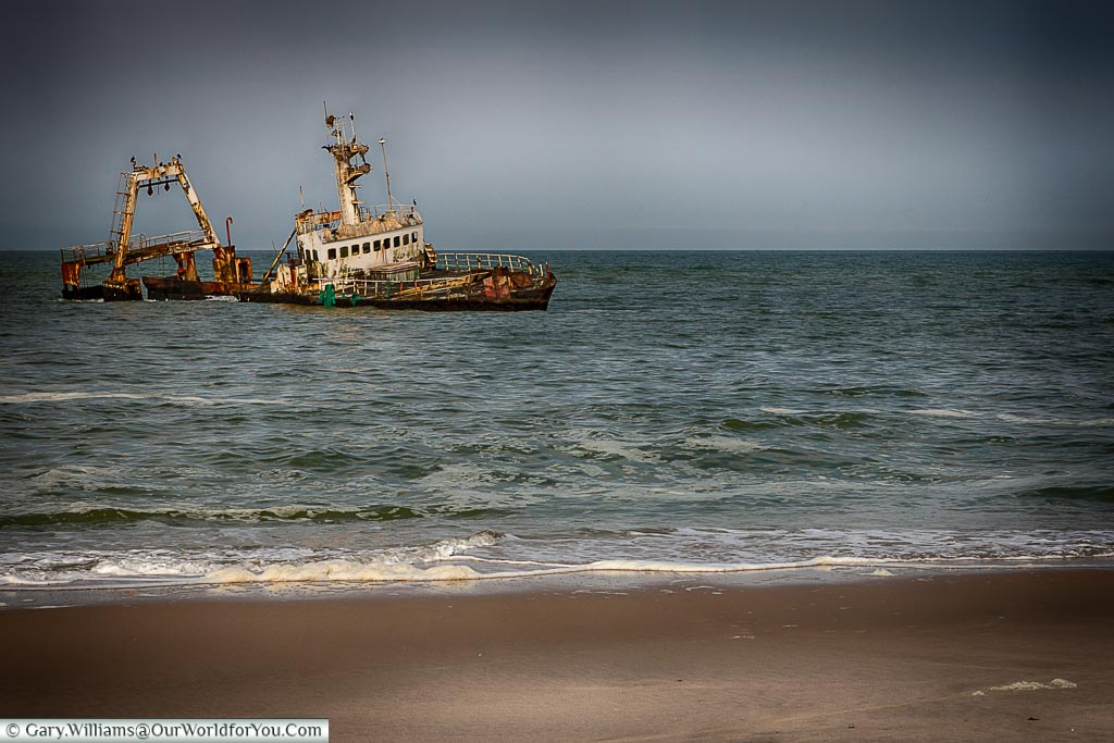 Another victim of the skeleton coast, Swakopmund, Namibia
