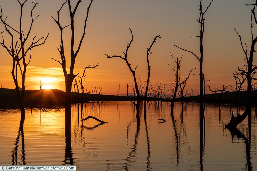 Farewell to the sun, Sundowner cruise, Rhino Safari Camp, Lake Kariba, Zimbabwe