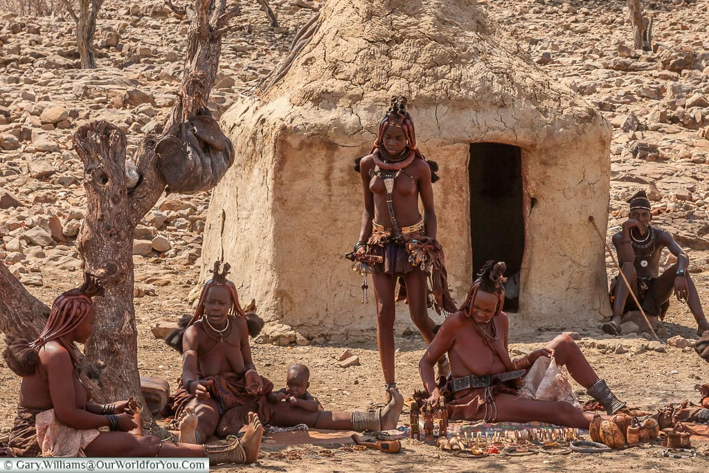 Gifts for sale from the Himba, Damaraland, Namibia