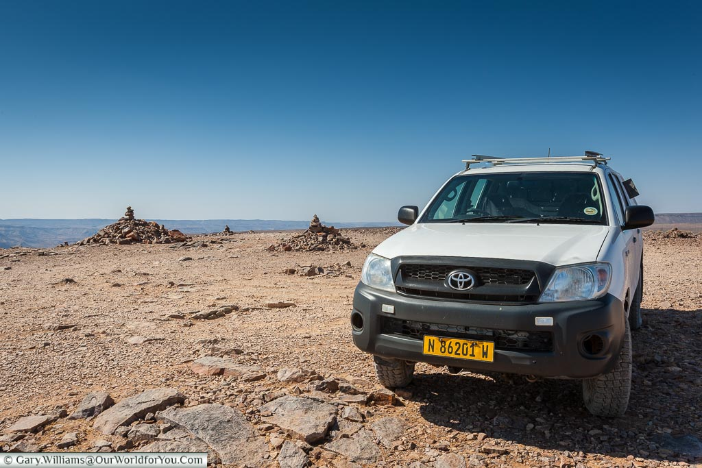 Heidi the Hilux at Fish River Canyon, Namibia